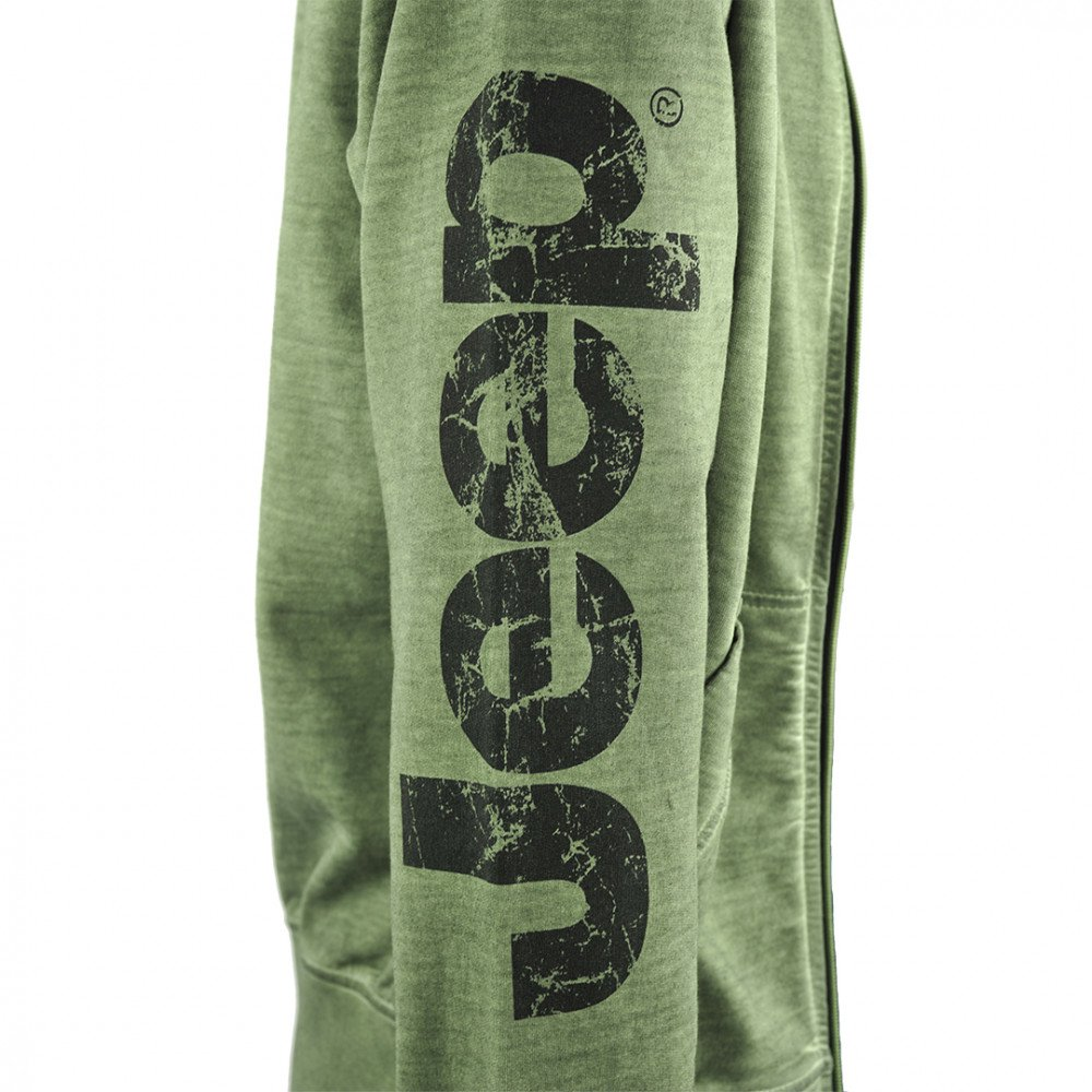 Melange Green Men S Jeep Hooded Sweatshirt Jeep Online Shop