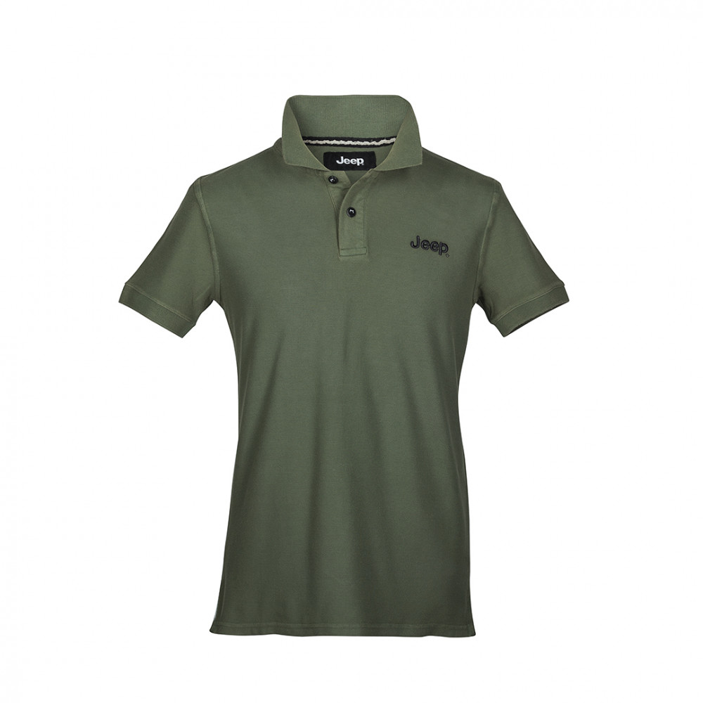 Dyed Dark Green Cotton Short S Men S Jeep Polo Shirt Jeep