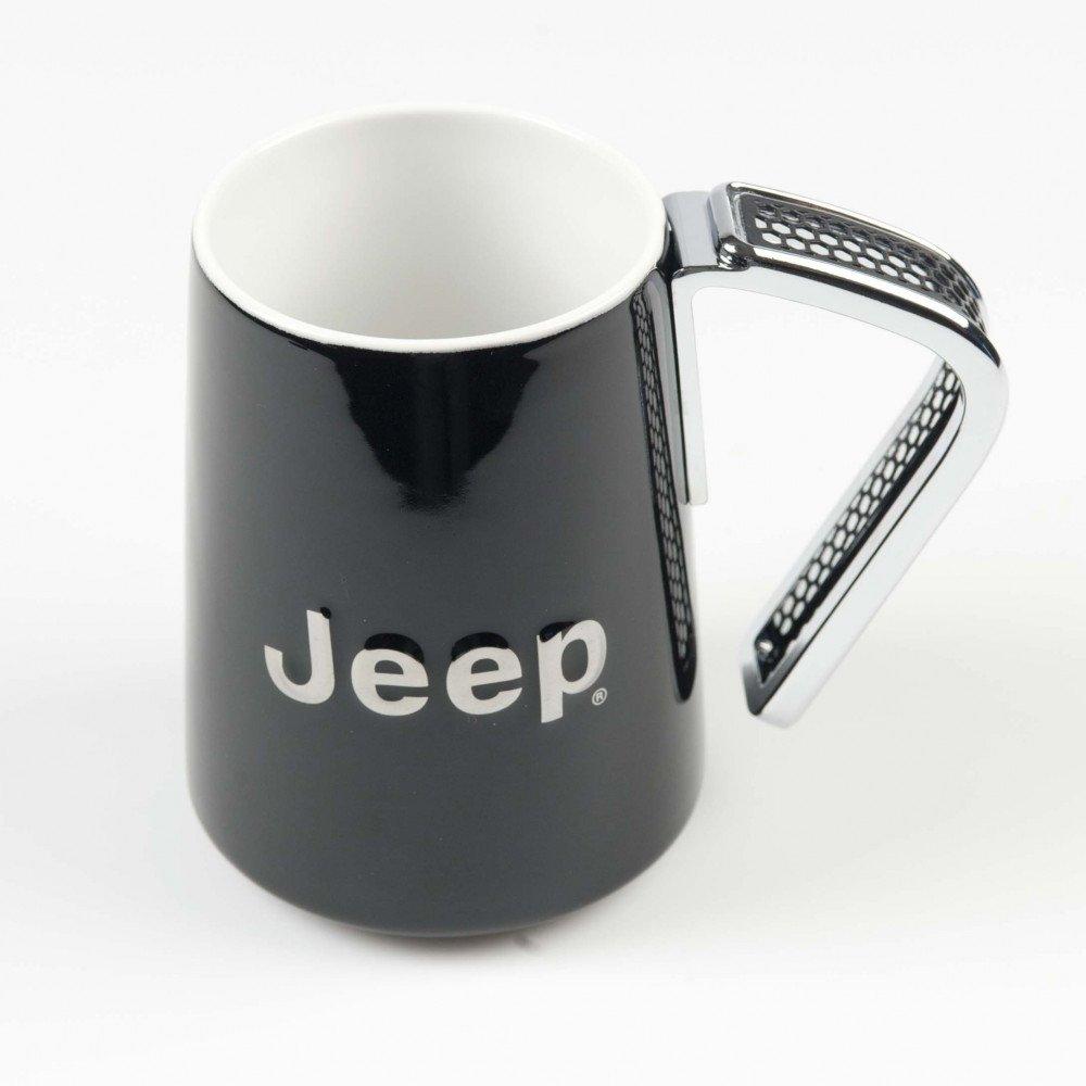 tasse jeep schwarz aus porzellan mit metallhenkel jeep online shop. Black Bedroom Furniture Sets. Home Design Ideas