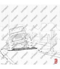 Jeep TJ, 1996 - vista frontale