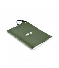 GREEN JEEP WATERPROOF DIARY WITH CLIP