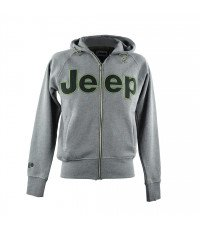 GREY MEN'S JEEP HOODED SWEATSHIRT