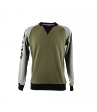 DARK GREEN/GREY LONG-S. MEN'S JEEP PIQUÉ T-SHIRT