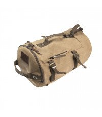 BROWN JEEP CANVAS BAG WITH BACKPACK STRAP