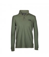 Polo homme manches longues Jeep Vintage vert