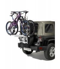Spare tire bike carrier for 2 bikes