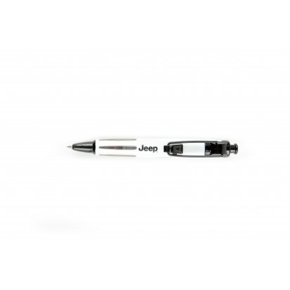 WHITE JEEP PRESSURISED BALLPOINT PEN