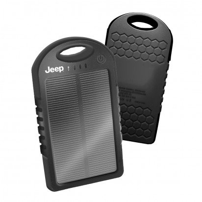 BLACK JEEP SUNNY 5000 MAH SOLAR BATTERY CHARGER