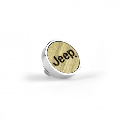 METAL AND WOOD JEEP PIN