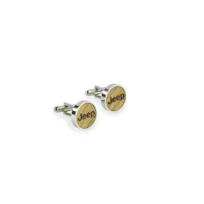 METAL AND WOOD JEEP CUFFLINKS