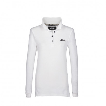 Polo femme manches longues Jeep Vintage blanc