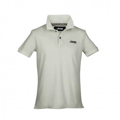 DYED GREY COTTON SHORT-S. MEN'S JEEP POLO SHIRT