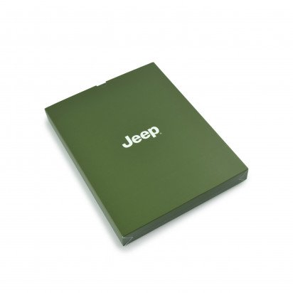 Carnet de notes Jeep avec couverture en bambou