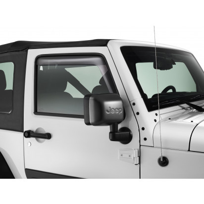 Tinted air deflectors for front windows