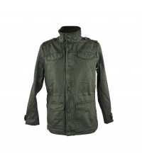 DARK GREEN UNISEX COTTON SPORTS JACKET
