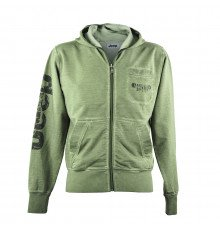 MELANGE GREEN MEN'S JEEP HOODED SWEATSHIRT