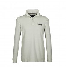 GREY LONG-S. MEN'S VINTAGE JEEP COTTON POLO SHIRT