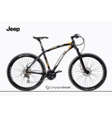 MED. BLACK JEEP MOUNTAIN BIKE WITH ORANGE DECORATION