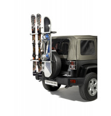Spare tire ski and snowboard carrier